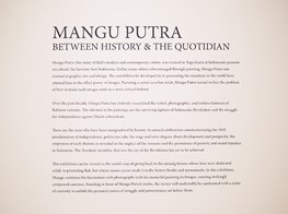 "Mangu Putra<br><em>Between History and the Quotidian</em><br><span class=""oc-gallery"">Gajah Gallery</span>"