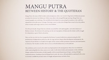 Contemporary art exhibition, Mangu Putra, Between History and the Quotidian at Gajah Gallery, Singapore