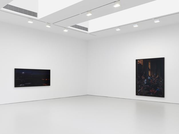 Exhibition view: Stan Douglas, DCTs and Scenes from the Blackout, David Zwirner, 19th Street, New York (22 February–7 April 2018). Courtesy David Zwirner.