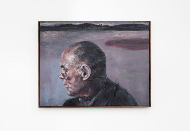 Portret van man met verre landskap by Johann Louw contemporary artwork