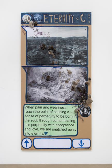 Eternity (Chat-Poster) by Thomas Hirschhorn contemporary artwork