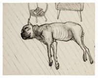 King Asleep by Alice Neel contemporary artwork drawing