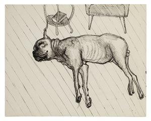 King Asleep by Alice Neel contemporary artwork