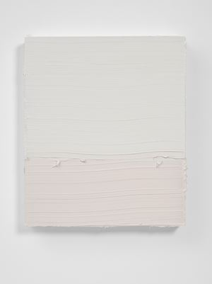 Untitled (Titanium White/Neutral Tint) by Jason Martin contemporary artwork