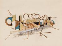 Recherche décorative pour le Cabaret du Théâtre des Champs Elysées by Nicolas de Staël contemporary artwork painting, works on paper, drawing