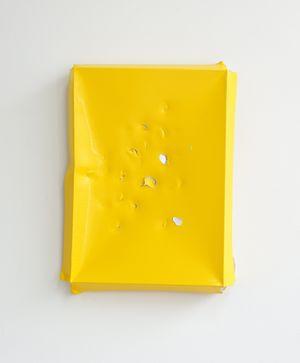 Aluminium Monochrome II (Yellow) by Angela De La Cruz contemporary artwork