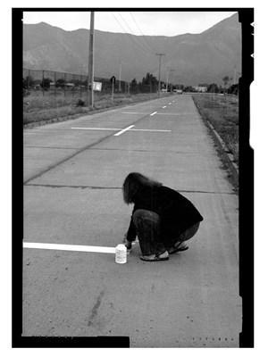 Una Milla de Cruces sobre el pavimento SAntiago chile by Lotty Rosenfeld contemporary artwork