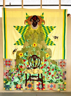 Skyline by Jesse Krimes contemporary artwork textile