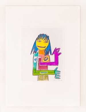 Untitled (Hippie Drawing) by Richard Prince contemporary artwork