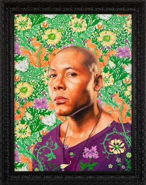 Portrait of Jae White by Kehinde Wiley contemporary artwork