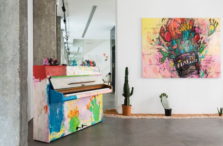 Exhibition view: Takashi Hara, Resilience x Cactus x Piano,A2Z Art Gallery, Paris (26 June–17 July 2021). ©Takashi Hara. CourtesyA2Z Art Gallery.