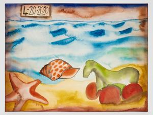 4-20-2020 by Francesco Clemente contemporary artwork