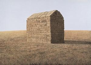 A haystack by William Delafield Cook  contemporary artwork
