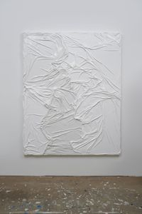 Untitled (White on White #2) by Huseyin Sami contemporary artwork painting