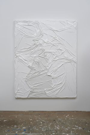 Untitled (White on White #2) by Huseyin Sami contemporary artwork
