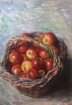 Panier de pommes by Claude Monet contemporary artwork