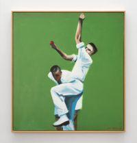 Harold Larwood by Ian Scott contemporary artwork painting