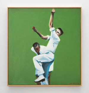 Harold Larwood by Ian Scott contemporary artwork