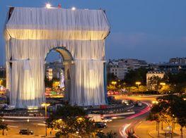 Christo's Arc de Triomphe Wrap Nears Completion