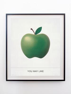 Adam wasn't into It by John Baldessari contemporary artwork print
