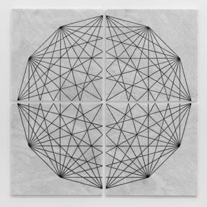 Construction Drawing 1 (Square) by Hamra Abbas contemporary artwork sculpture