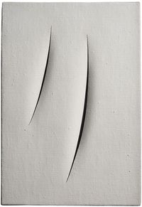Spatial Concept, Waiting by Lucio Fontana contemporary artwork works on paper