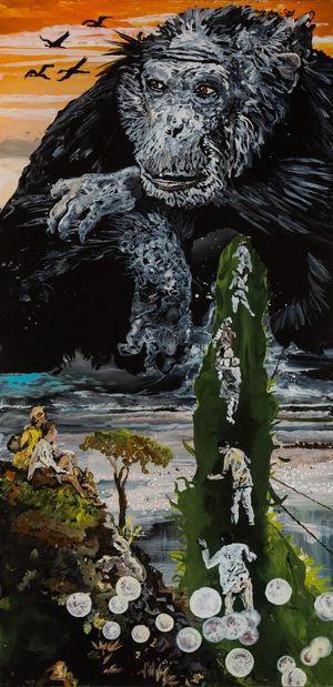 Affentheater by Wolf Hamm contemporary artwork