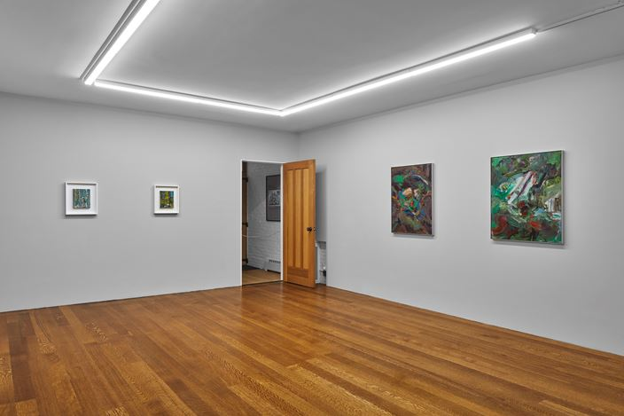 Exhibition view:Richard Patterson, Timothy Taylor, New York (13 November–21 December 2018). Courtesy Timothy Taylor.