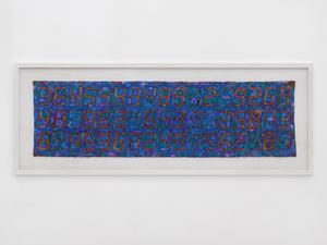Counter Painting on William Morris Blue by Tatsuo Miyajima contemporary artwork