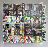 Dick Cheney Paper Quilt by Mike Cloud contemporary artwork painting, works on paper
