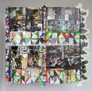 Dick Cheney Paper Quilt by Mike Cloud contemporary artwork