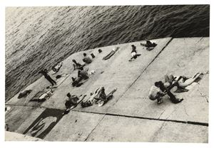 The Piers (sunbathing platform with Tava mural) by Alvin Baltrop contemporary artwork