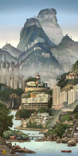 Solitary Temple by Emily Allchurch contemporary artwork