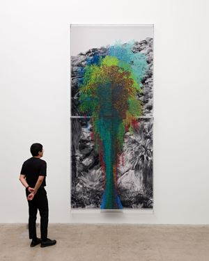Numbers and Trees: Palm Canyon, Palm Trees Series 2, Tree #10, Tübatulabal by Charles Gaines contemporary artwork