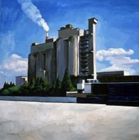 Industry topic by Liu Weijian contemporary artwork painting