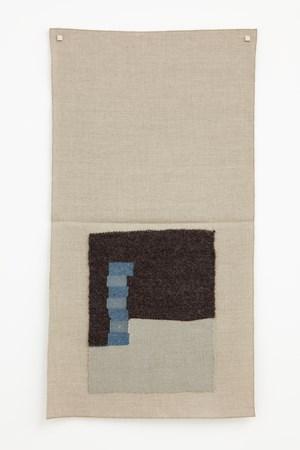 Undyed dark brown, light silver, light blue, lighter gray-blue by Helen Mirra contemporary artwork