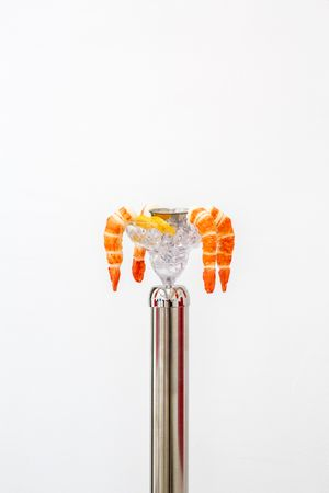 Timeless Symbols (Shrimp Cocktail) by Andrew J. Greene contemporary artwork sculpture