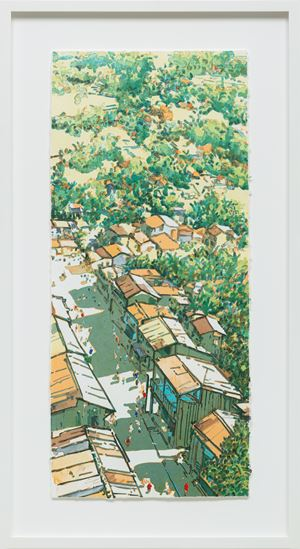 Panaroma Ubin (Changing Times: Main Street, Ubin series) by Ong Kim Seng contemporary artwork