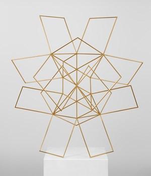 Konstruktion aus drei Quadratgrössen (Denkmal für Pythagoras) Construction consisting of three square sizes (monument to Pythagoras) by Max Bill contemporary artwork