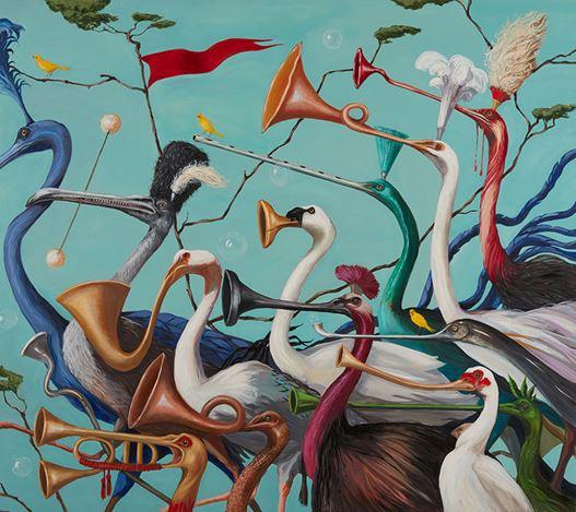 Joanna Braithwaite, Hurly Burly (2020). Oil on canvas, 175 x 198 cm. Courtesy Martin Browne Contemporary.