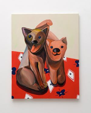 Smiling Dogs by Aki Kondo contemporary artwork