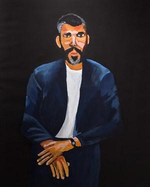 Legends, Gordon Bennett by Vincent Namatjira contemporary artwork