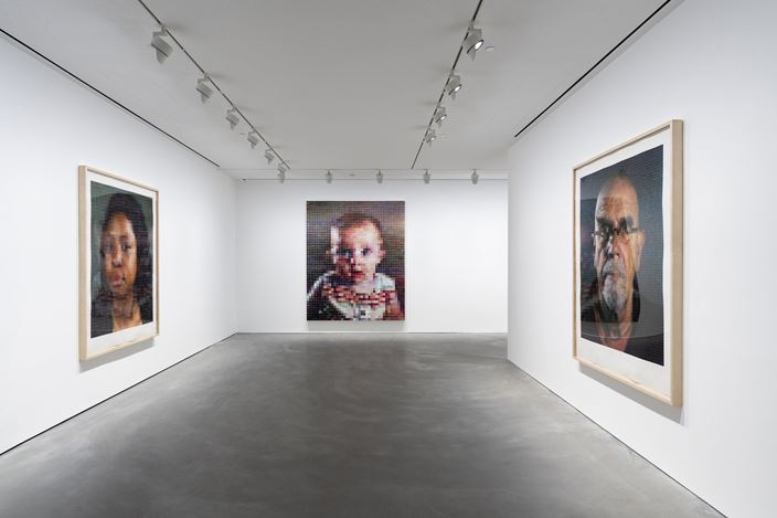 Exhibition view: Chuck Close, Pace Gallery, Hong Kong (10 January–14 March 2020). © Chuck Close. Courtesy Pace Gallery.
