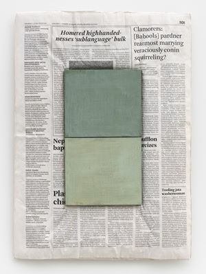 Composition with Two Colours by Mark Manders contemporary artwork