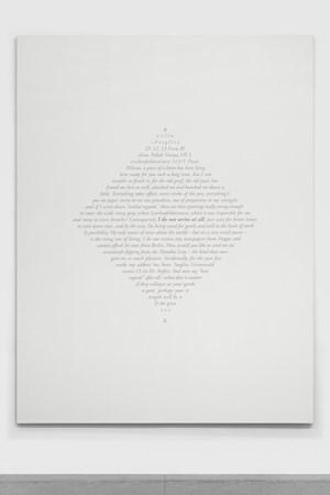 Carta a Milena (Berlin, 25 de diciembre de 1923) II / Letter to Milena (Berlin, December 25th, 1923) II by Jorge Méndez Blake contemporary artwork