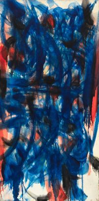 Blue & Red by Norman Bluhm contemporary artwork painting, works on paper