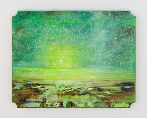 Landscape and green and chickens by Tursic & Mille contemporary artwork