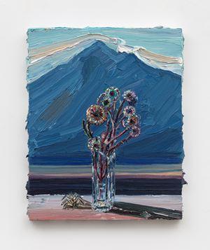 Blue Mountain (for Hockney) by Allison Schulnik contemporary artwork
