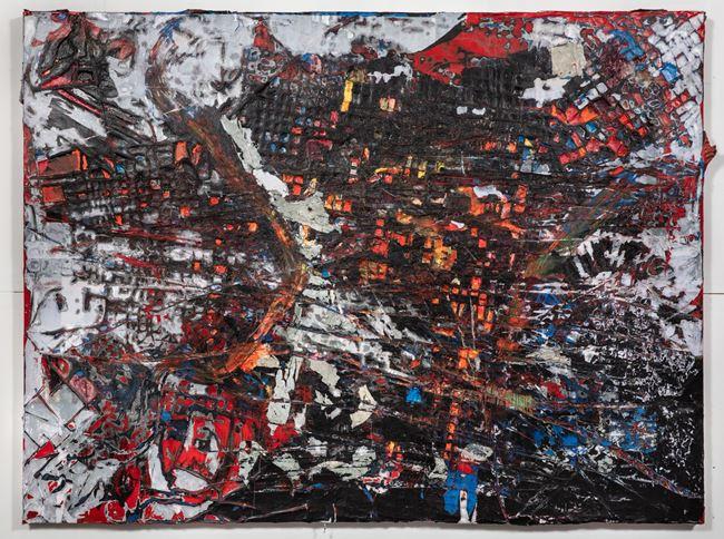 Q7 by Mark Bradford contemporary artwork