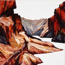 Red Cut by Neil Frazer contemporary artwork